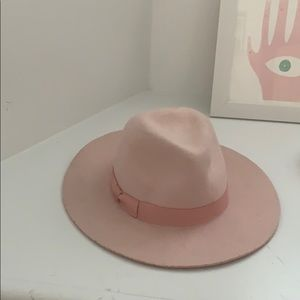 Lack color pink hat